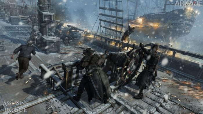 Análise Arkade - Assassin's Creed: Rogue é um mais do mesmo, mas bem feito.