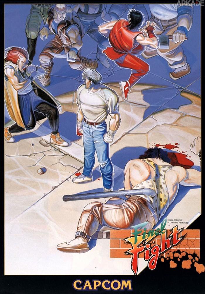 """RetroArkade: Relembre como """"era bom"""" perder a mesada jogando Final Fight no arcade e locadora"""