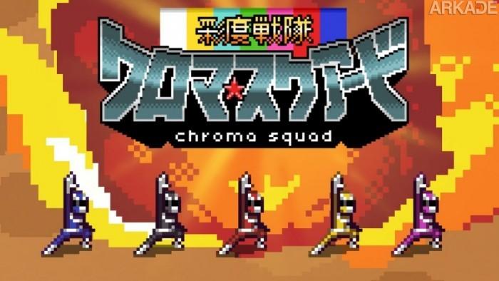 """Chroma Squad: """"Simulador de Power Rangers"""" brasileiro concorre a prêmio e já tem data de lançamento"""