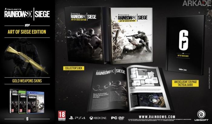 Rainbow Six Siege ganha um novo trailer e revela estilosa Edição de Colecionador