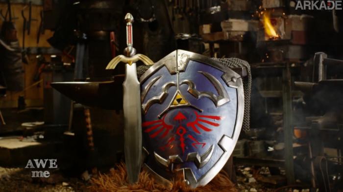 Ferreiros recriam o Hylian Shield de The Legend of Zelda na vida real