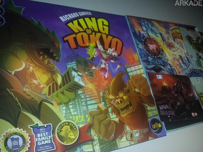 Tabuleiro Arkade - Monstros gigantes em King of Tokyo!