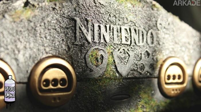 The Legend of Zelda: Ocarina of Time é o tema deste belo Nintendo 64 customizado
