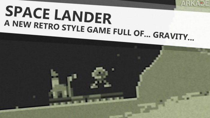 Aterrise sua nave 8 bits no retrô Space Lander