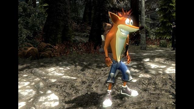 Esse mod te coloca novamente na pele de Crash Bandicoot, mas desta vez em uma aventura por Skyrim