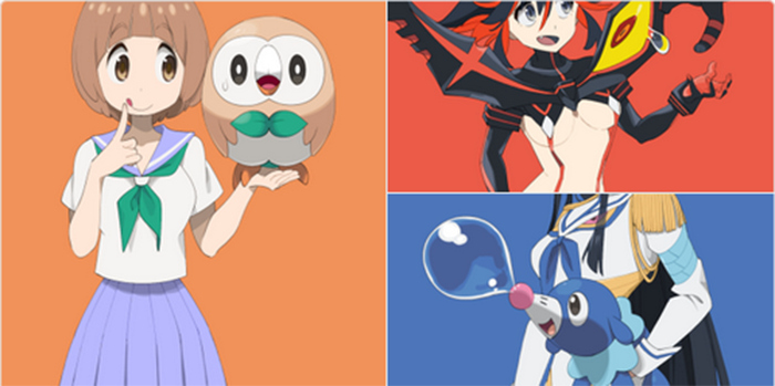 Fãs acertam na mosca nesse crossover entre Pokémon Sun & Moon e personagens de Kill La Kill
