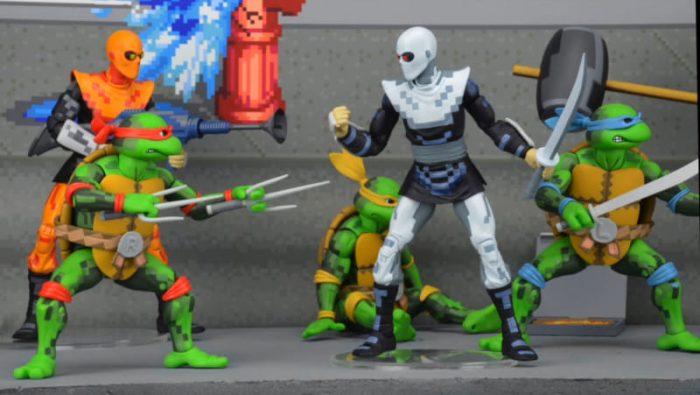 Essas actions figures do beat 'em up clássico das Tartarugas Ninja é tudo que você vai precisar agora