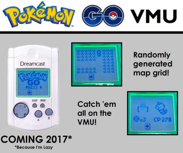 Alguém está fazendo um port de Pokémon GO para o VMU do Dreamcast