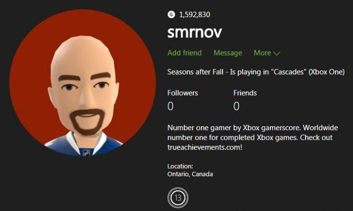 Tribuna Arkade: dono do maior Gamerscore da Xbox Live vai casar e perde seu trono!