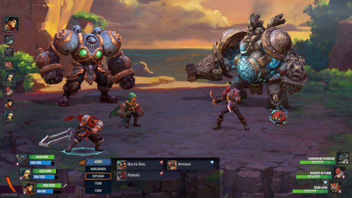 Melhores Jogos do Ano Arkade 2017: Battle Chasers: Nightwar