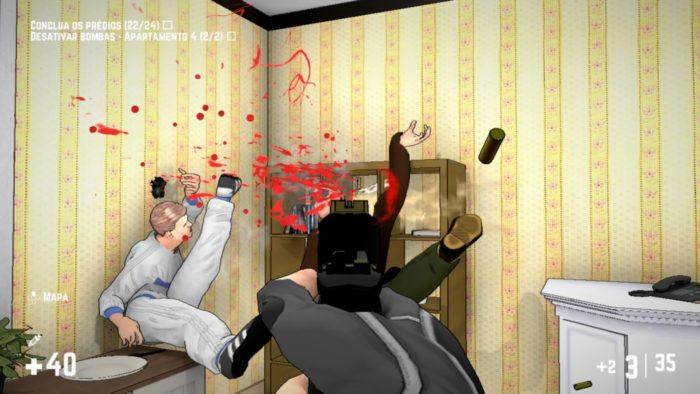Análise Arkade: arrombe portas e atire nos homens em RICO
