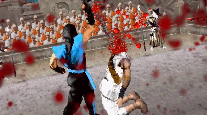 """Os fatalities do primeiro Mortal Kombat ficam incríveis """"em 3D"""", vem ver!"""