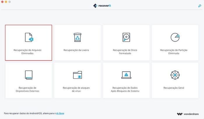 Conheça o Recoverit, feito para recuperar fotos e vídeos apagados de seu computador