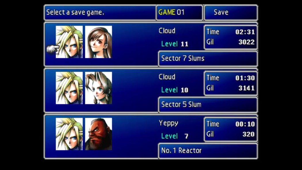 Sabe por que a Square Enix não relança alguns clássicos? Porque perdeu seus códigos