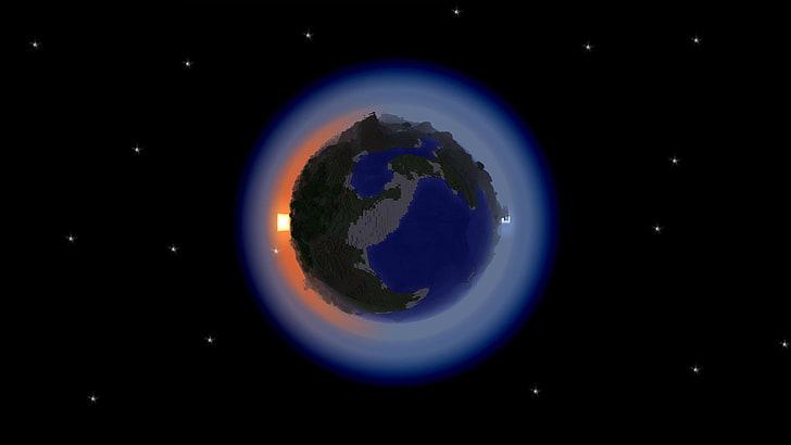 Um jogador está tentando recriar o planeta terra inteiro dentro de Minecraft