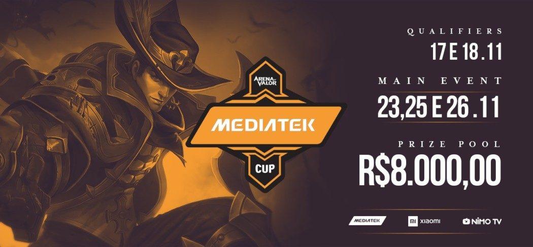 Arena of Valor – MediaTek e Xiaomi promovem campeonato com 8 mil reais em premiação!