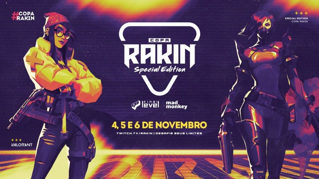 VALORANT – 3ª Copa Rakin chega em Novembro em formato beneficente