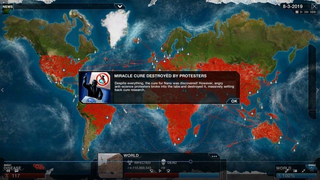 Plague Inc. enfim recebe novo modo cujo objetivo é parar a pandemia