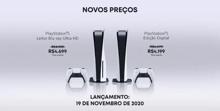 Sony anuncia redução de preço do Playstation 5 (e acessórios) no Brasil