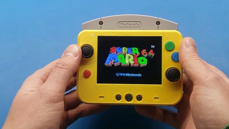 Modder cria o menor Nintendo 64 portátil do mundo!