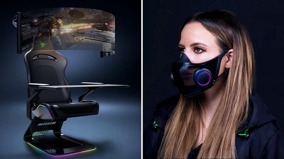Razer apresenta a cadeira gamer do futuro e máscara de proteção inteligente