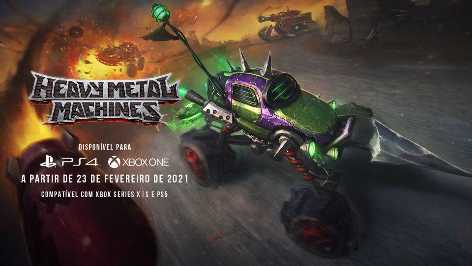 Heavy Metal Machines: game brasileiro chega aos consoles na semana que vem!
