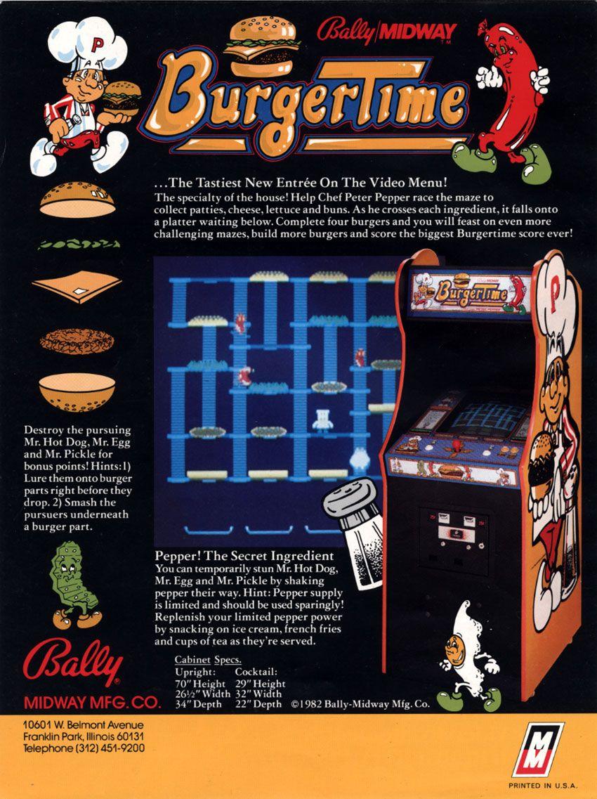 RetroArkade - BurgerTime e a divertida missão de preparar hambúrgueres