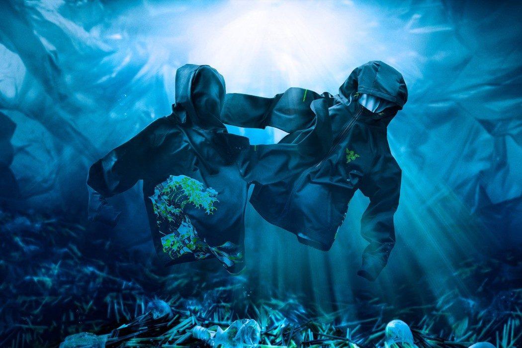 Razer lança linha de roupas feitas com plástico retirado dos oceanos