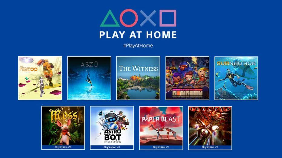 Play At Home: Sony vai liberar mais 10 jogos de PS4 (e PSVR) de graça até maio!