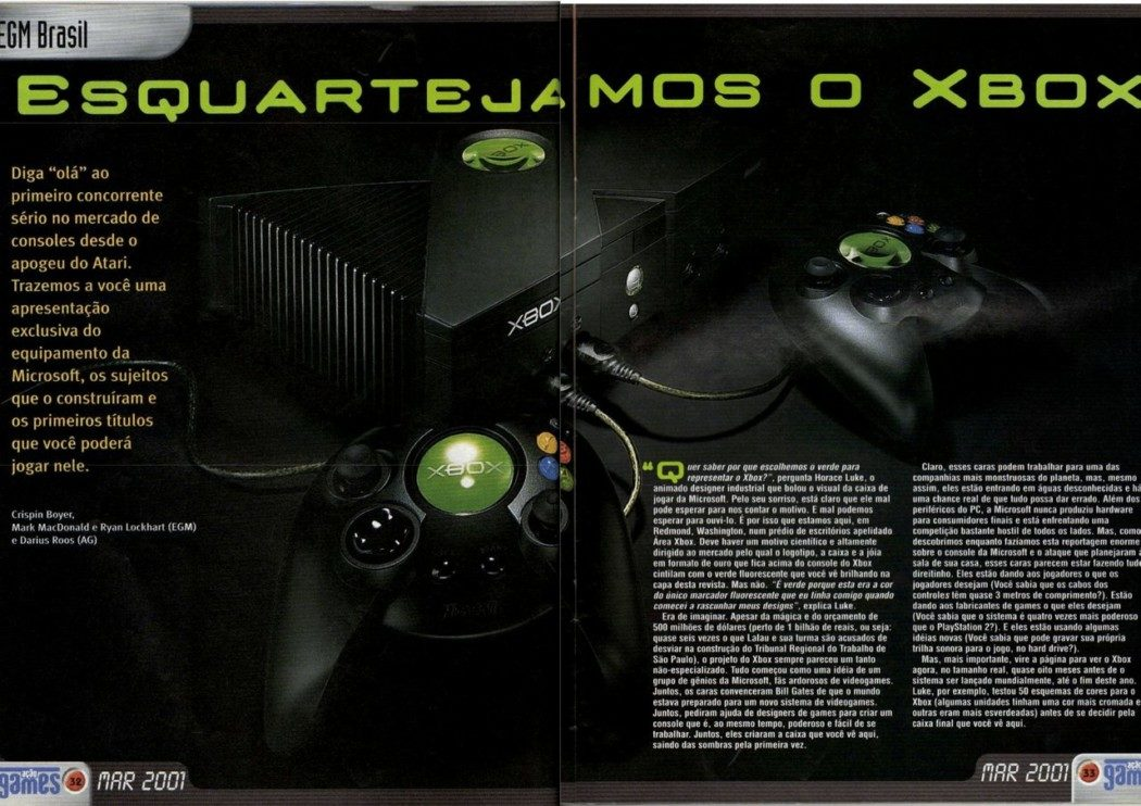 RetroArkade: Como as revistas de games noticiaram o primeiro Xbox