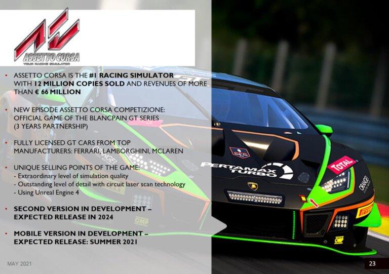 Assetto Corsa 2 chega em 2024, enquanto game móvel chega em breve