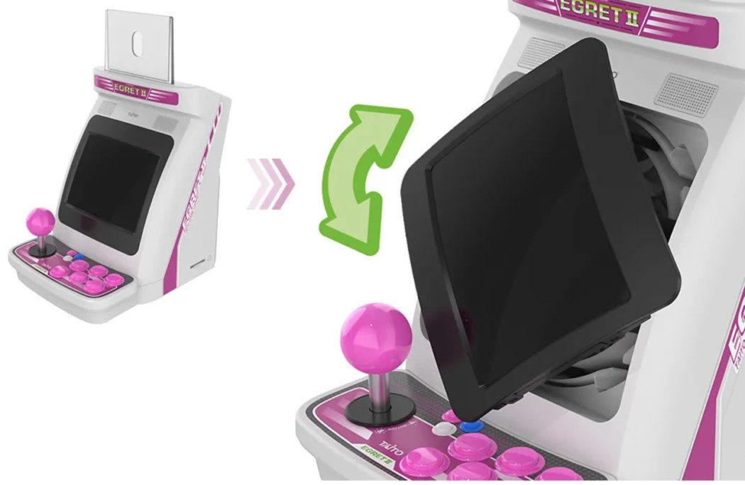 Taito anuncia Egret II Mini, seu mini-arcade com tela que gira e clássicos