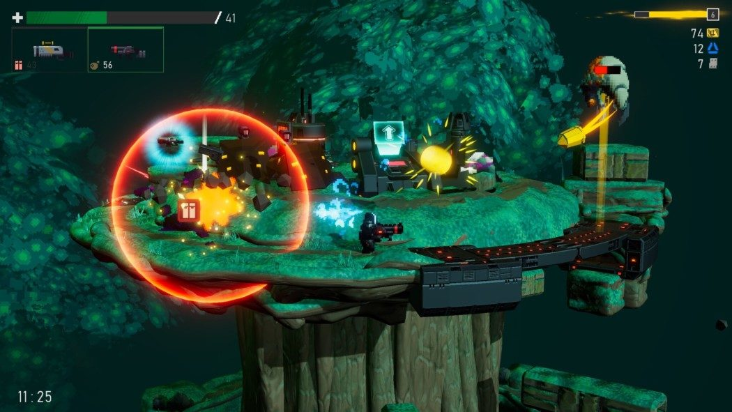 "Preview Arkade: Orbital Bullet, um roguelite ""circular"" com dungeons em 360º"