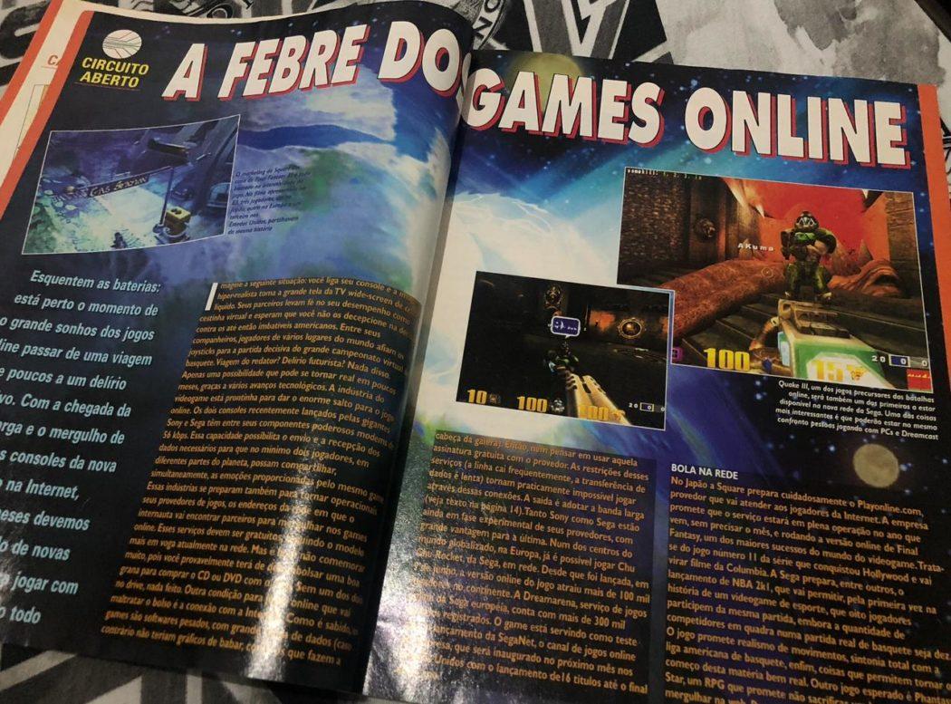 RetroArkade - A SGP falou de games online em agosto de 2000