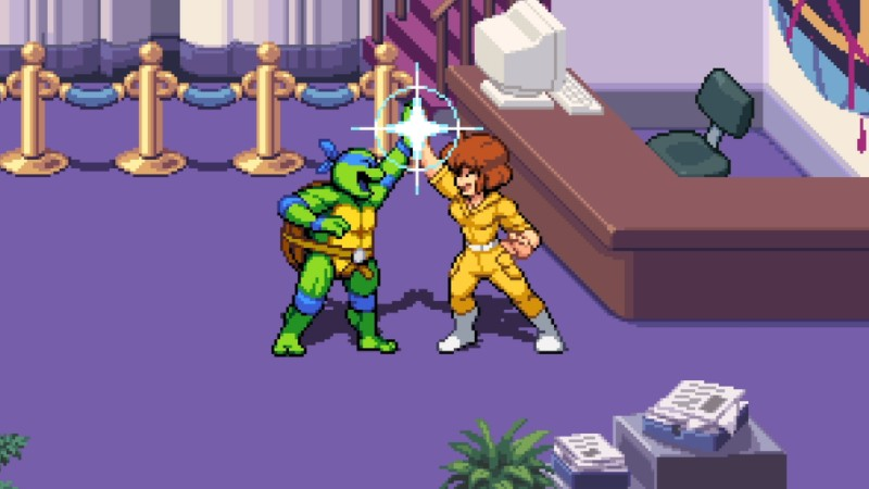 April será personagem jogável no game das Tartarugas Ninja