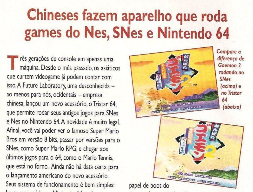 RetroArkade - Tristar 64, o aparelho que levou NES e Super NES ao Nintendo 64