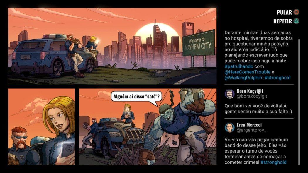 Análise Arkade: Mayhem Brawler, um beat 'em up honesto com cara de história em quadrinhos