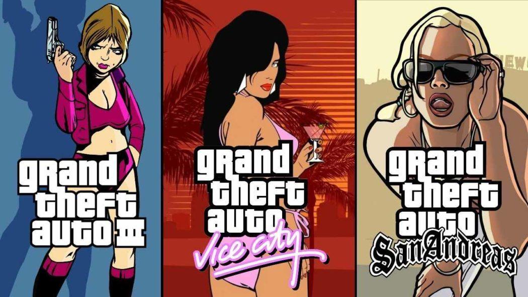 A Rockstar deixou vazar a existência das remasterizações de GTA III, Vice City e San Andreas